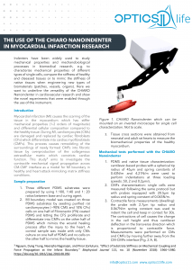 Nanoindentation Application Note Cardiovascular Research